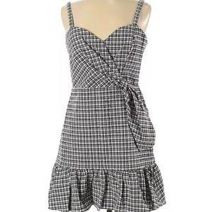 NWT Parker Mini Dress Small Gingham Plaid High/Low